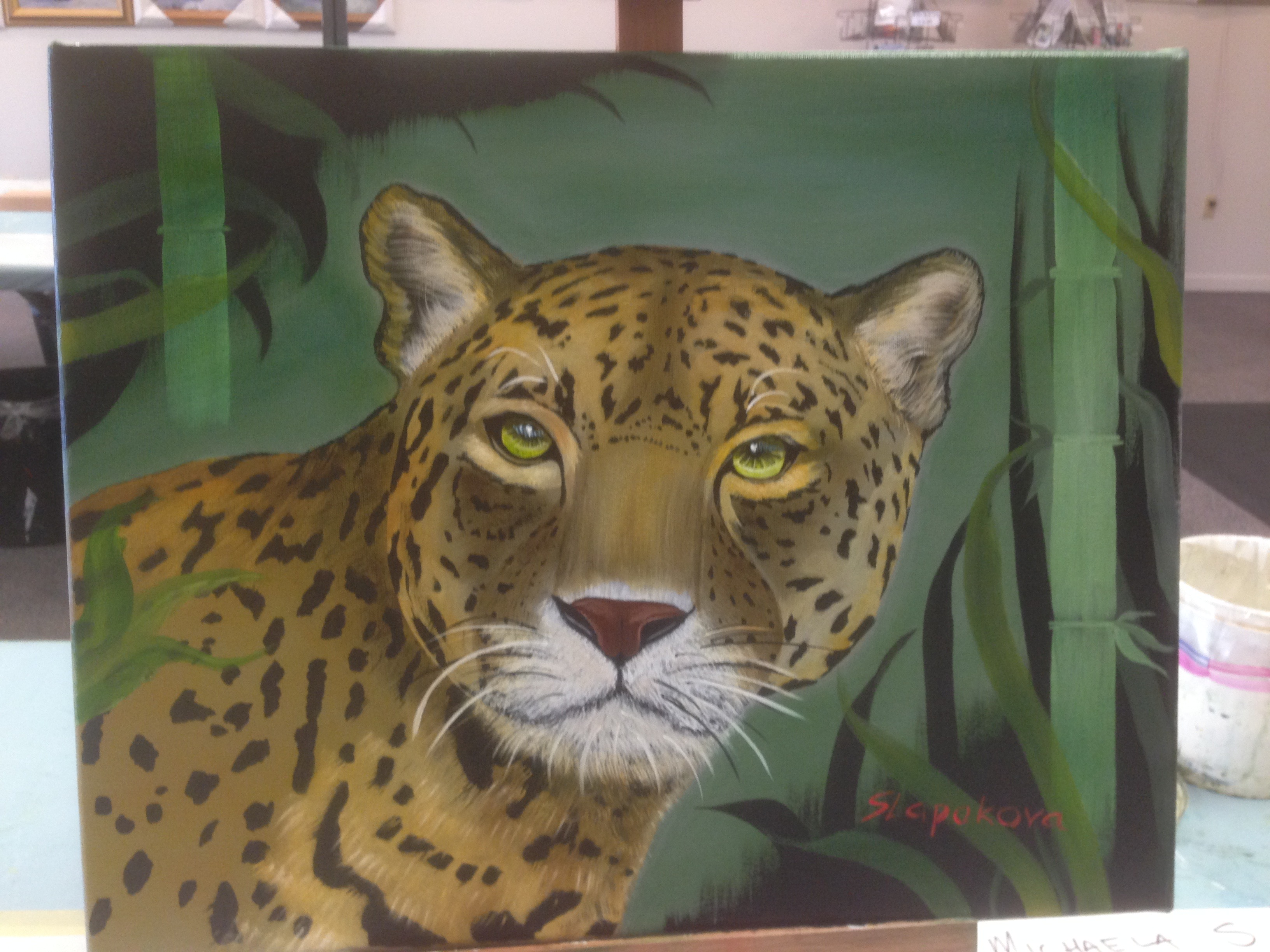 Jaguar - olejomalba, 40 x 50 cm